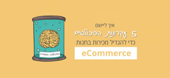 איך להגדיל מכירות באתר eCommerce