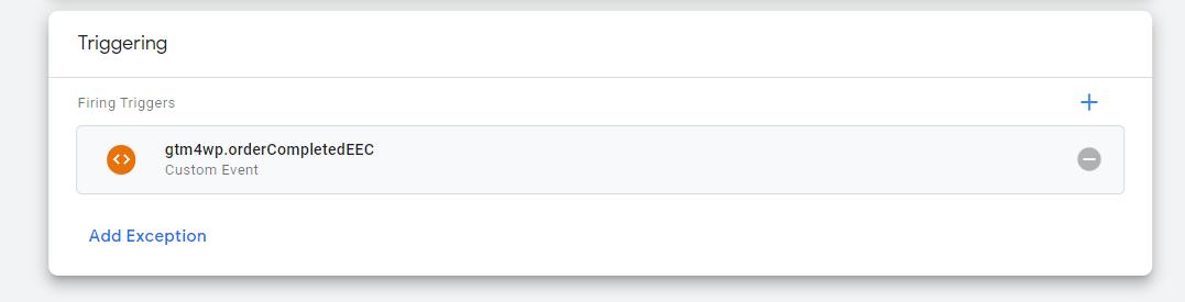 Data Layer trigger